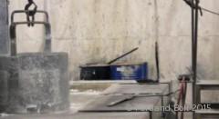 Bolt immersed in liquid zinc